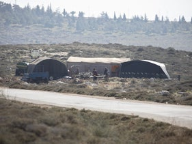 The Ma'aleh Ahuvia settlement outpost, north of Ramallagh, in January.