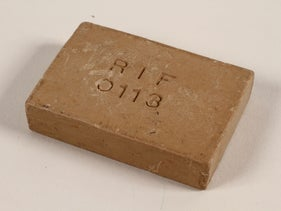 Bar of soap issued to a Polish Jewish concentration camp inmate.