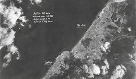 A photo taken by the Luftwaffe during WWII of Tel Aviv, Jaffa, and the Mediterranean coast.