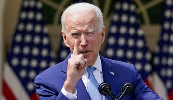 President Joe Biden gestures as he speaks about gun violence prevention in the  White House, earlier this month.