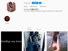 Screenshot of an Instagram account that Israeli security services said was being run by Iranian intelligence.