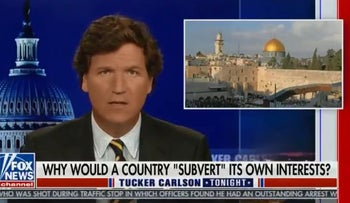 Citing Israel, Tucker Carlson defends 'replacement theory' and attacks the ADL