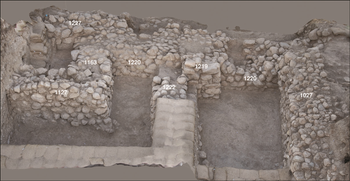 Late Bronze Age              fortifications at Lachish, where the inscription was found