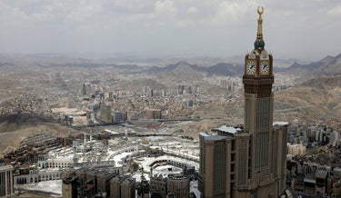 Mecca, Saudia Arabia, the site of the Muslim hajj pilgrimage.