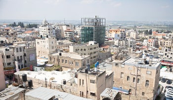 The Palestinian city of Tul Karm, last month
