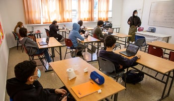 A school in Jerusalem last month, after COVID-19 restrictions were lifted