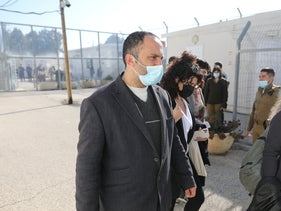 Activist Issa Amro at an Israeli military court in January.