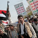 Houthi supporters at a rally in Yemen, last month.