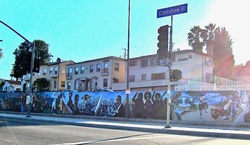 The Mural of African-American Progress on Los Angeles' Crenshaw Boulevard, in 2011.
