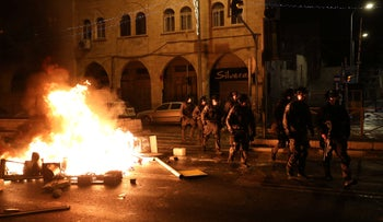 Clashes and disruptions in Jerusalem, last night.