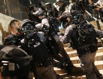 Police officers are bracing for lone wolf attacks as tensions rise in Jerusalem