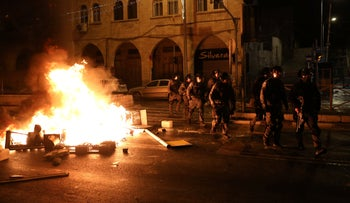 Weekend clashes in Jerusalem