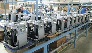 Strauss' home water dispensers assembly line, in 2005.