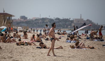 A Tel Aviv beach, this month.