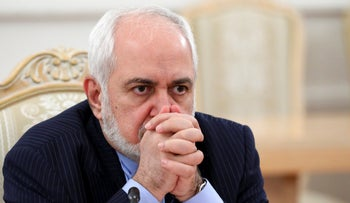 In this file photo released by the Russian Foreign Ministry Press Service, Iranian Foreign Minister Mohammad Javad Zarif listens during the talks in Moscow, Russia earlier this year