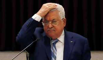 Palestinian Authority Mahmoud Abbas in August