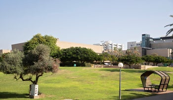 The Tel Aviv University courtyard amid the coronavirus pandemic, in October.