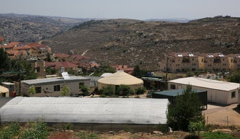 An aerial view of the settlement of Efrat, in 2018