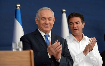 Prime Minister Benjamin Netanyahu with outgoing Mossad chief Yossi Cohen.