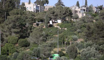 Charles Clore Hill Gardens in Jerusalem on Tuesday.