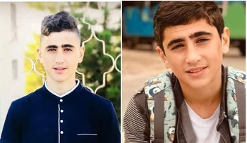 16-year-old Saeed Yusuf Muhammad Oudeh killed in clashes with the Israeli army near Nablus, May 2021.