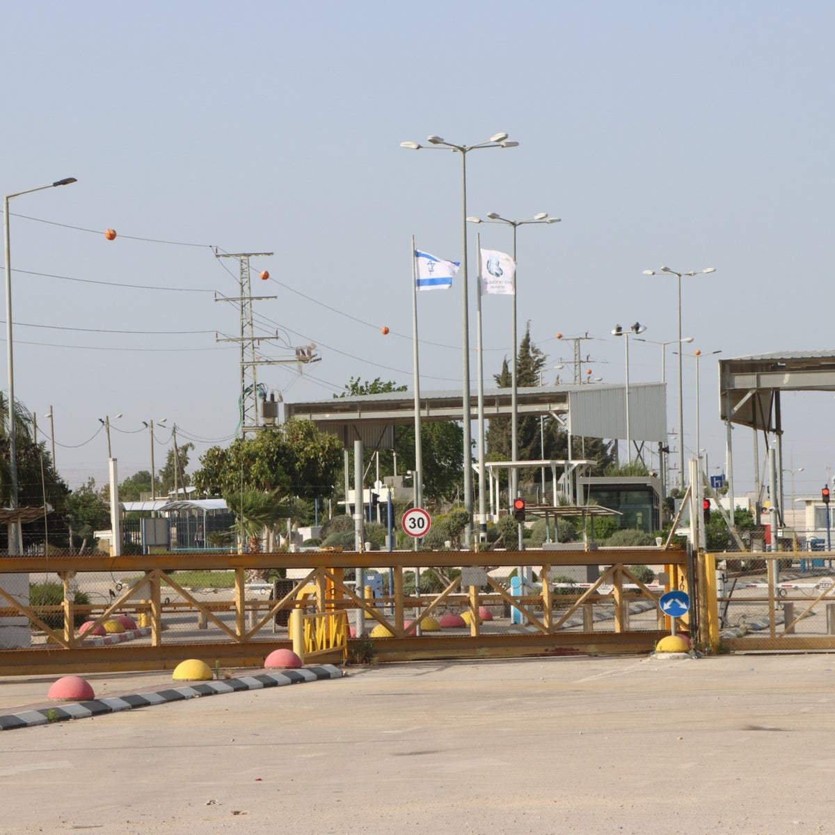 The Jalameh checkpoint from the Palestinian side, in Jenin, last week.