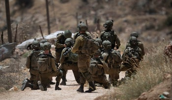Israeli soldiers in the West Bank, May 2021.