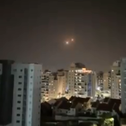 A video circulated on social media showing a rocket intercepted over southern Israel, today.