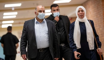 United Arab List leader Mansour Abbas at the Knesset two weeks ago.