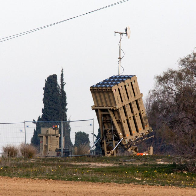 An Iron Dome anti-missile battery on the Gaza border, January 2019.