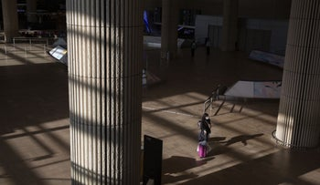 The deserted Arrivals hall at Ben-Gurion Airport earlier this year.