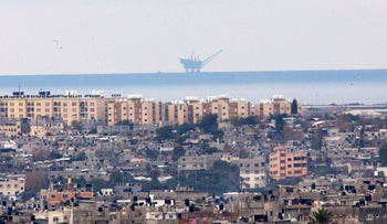 The natural gas platform off the coast of Gaza, last year.