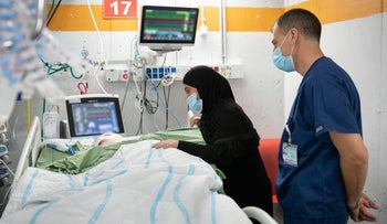 Mohammad, the 12-year-old boy, in hospital after the attack