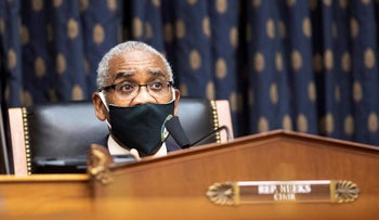 Rep. Gregory Meeks speaks during a House Committee on Foreign Affairs hearing on Capitol Hill, two months ago.