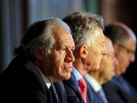 Secretary General of the OAS Luis Almagro at a conference in Miami, Florida two weeks ago.