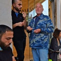Locals meet at Finjan cafe in Jaffa, where Arabs and Jews hang out together, last week.