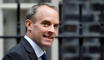 Britain's Foreign Affairs Secretary Dominic Raab outside Downing Street in London, last year.