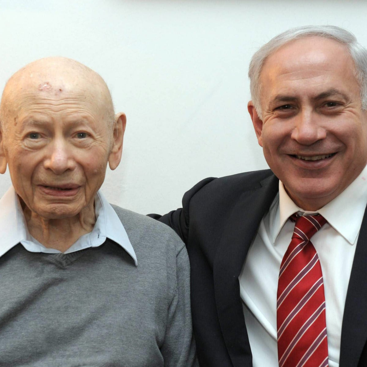 Prime Minister Benjamin Netanyahu, right, with his father Benzion. The latter died in 2012 at age 102.