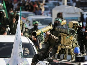 Hamas militants at a rally in Khan Younis, in the southern Gaza Strip, on Thursday.
