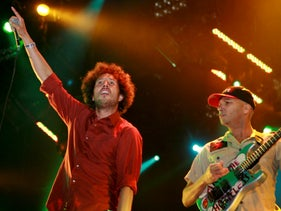 Zack de la Rocha and Tom Morello of Rage Against The Machine performing in New Orleans, 2007.