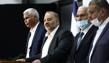 UAL leader Mansour Abbas at a press conference earlier in the month.