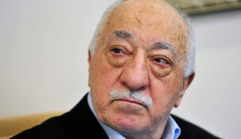 Islamic cleric Fethullah Gulen speaks to members of the media at his compound, in Saylorsburg, Pennsylvania, United States of America, in 2016.