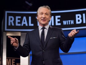 """Bill Maher during a broadcast of his show """"Real Time with Bill Maher"""" in Los Angeles 2016."""