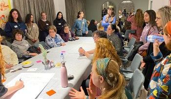A recent gathering of the newly formed local branch of the Jewish Orthodox Feminist Alliance in Melbourne.