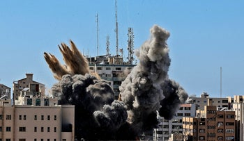 The airstrike on the building housing various international media, including The Associated Press in Gaza City in May.