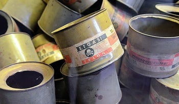 Zyklon B canisters.