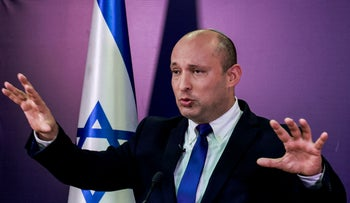 Naftali Bennett, Yamina party chairman, at the Knesset in Jerusalem, this week.