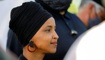 Ilhan Omar attends a concert in Minneapolis, Minnesota in May.