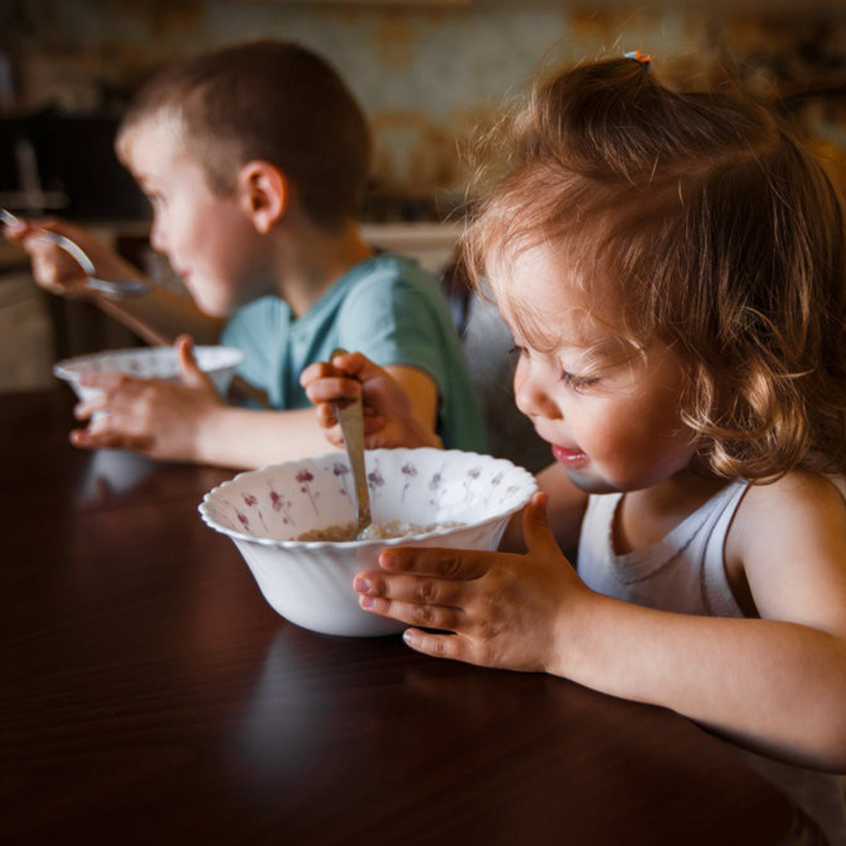 """Breakfast time. """"Children are fussy because we made them fussy... Obviously, colorful, sugar-rich cereals will tempt kids more than the hot cereal we prepare ourselves,"""" says Monsonego Ornan."""