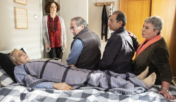 """A scene from """"Stockholm,"""" on Topic. The Israeli comedy has also spawned a German remake."""
